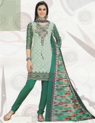 Cotton Dress Material Elegant Designer Unstitched Suit D.No 2110