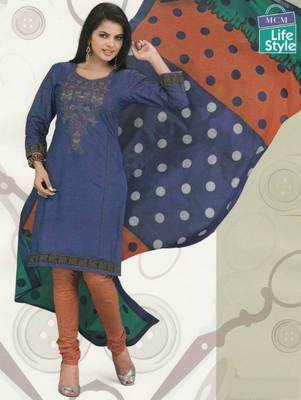 Cotton Dress Material Elegant Designer Unstitched Suit D.No 2111
