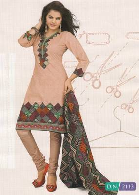 Cotton Dress Material Elegant Designer Unstitched Suit D.No 2113