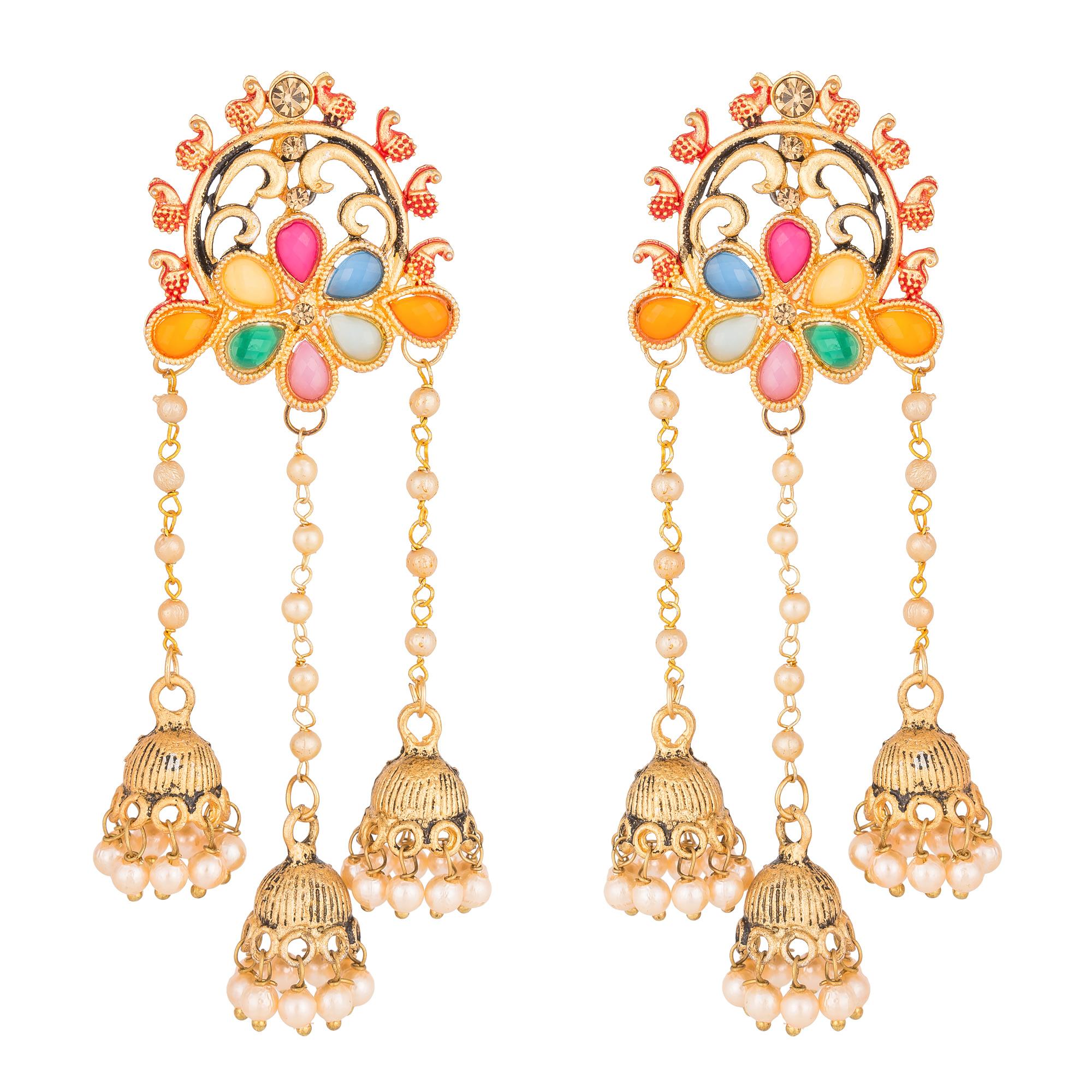Buy Multicolor diamond earrings line