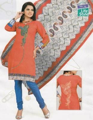 Cotton Dress Material Elegant Designer Unstitched Suit D.No 2119