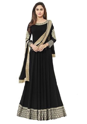 792509e169 Black embroidered georgette salwar suit with dupatta - Fashion at ...