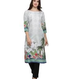 Multicolor printed dupion silk kurtas-and-kurtis