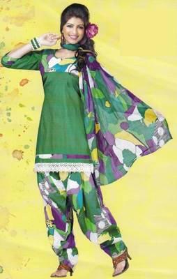 Dress Material Lawn Cotton Prints Unstitched Salwar Kameez Suit D.No PD111
