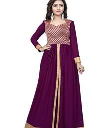 Buy Purple printed georgette kurtas-and-kurtis kurtas-and-kurtis online