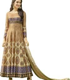 Buy Stylish Multi & Beige Jersey Printed Gown Style Anarkali Suit jersey-salwar-kameez online