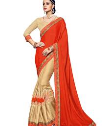 Buy Red woven silk blend saree with blouse silk-saree online