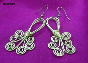 Brass_Wire_Work_Twisted_Earrings