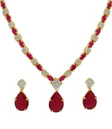 Buy Red ruby necklace-sets necklace-set online