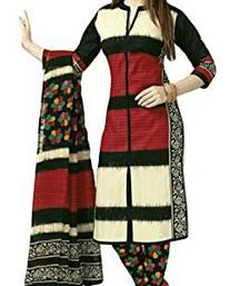 Buy Multicolor floral print cotton salwar crepe-salwar-suit online