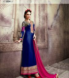 Buy Multicolor embroidered georgette salwar party-wear-salwar-kameez online