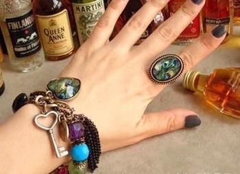 Peacock Shine Ring