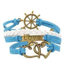 Blue agate bracelets