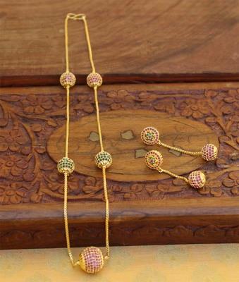 Multicolor agate necklace-sets