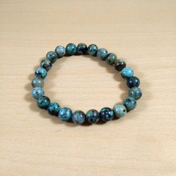 Exclusive Offer!! African Turquoise Bead Bracelet Size 8MM Set Of 3