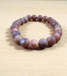 Exclusive Offer!! Peach Druzy Agate Bead Bracelet Size 8MM Set Of 3
