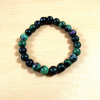 Exclusive Offer!! Ruby Zoisite Gemstone Bead Bracelet Size 8MM Set Of 3