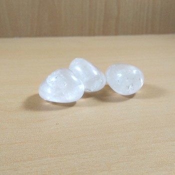 Clear Quartz Natural Polished Tumble Stone Weight - 500 Gms