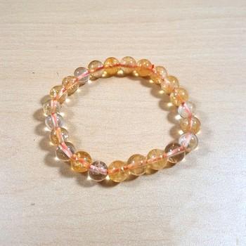 Exclusive Offer!! Citrine Natural Bead Bracelet Size 8MM Set Of 3