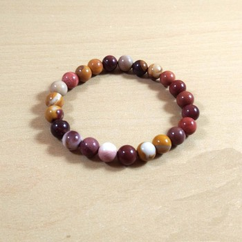 Exclusive Offer!! Mookaite Jasper Bead Bracelet Size 8MM Set Of 3
