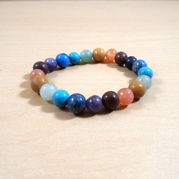 Exclusive Offer!! Seven Chakra Bead Bracelet Size 8MM Set Of 3