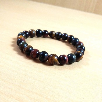 Exclusive Offer!! Tiger Eye Mix Bead Bracelet Size 8MM Set Of 3