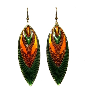 Morcrest Peacock Glory Earrings