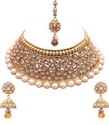 Buy Sukkhi Moddish Choker Gold Plated Necklace Set necklace-set online