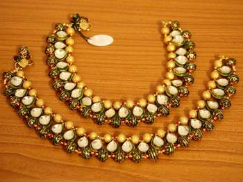 Kundan Meenakari Traditional Rajasthani Payal