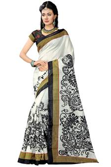 5ec746aba1 White Sarees – Buy White Color Saree Designs for Women in India