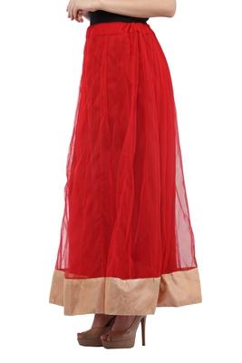 Red Net Long Skirts
