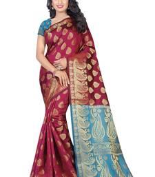 Buy Multicolor banarasi saree with blouse diwali-sarees-collection online