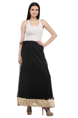Black Net Long Skirts