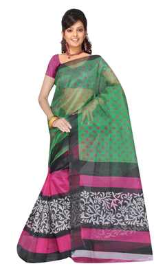 Multicolor Printed saree with blouse