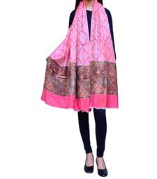 Buy  Kashmiri Jamawar Shawl/Stole-Pink shawl online