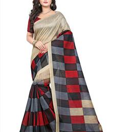 Buy Multicolor printed bhagalpuri silk saree with blouse below-500 online