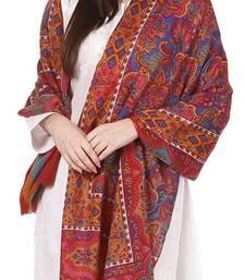 Buy Multi Wool Embroidered Pashmina shawl shawl online