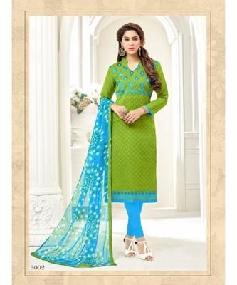 Mehendi embroidered jacquard salwar