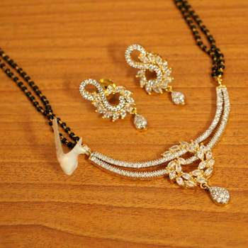 Diamond Look Gold Plated Fine Mangalsutra