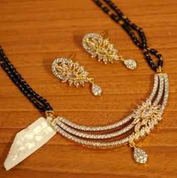 Designer Diamond Look Fine Mangalsutra