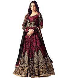 Buy Black embroidered georgette salwar salwar-kameez-below-2000 online