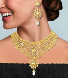 Gold diamond necklace-sets necklace-set