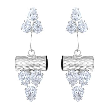 White Diamond Danglers Drops
