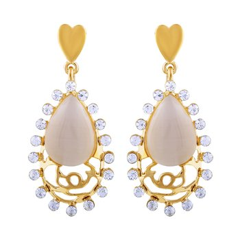 Gold Diamond Danglers Drops