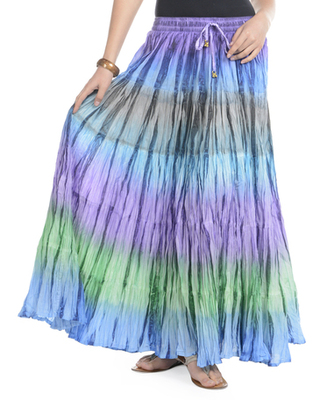 Multicolor Cotton Long Skirt