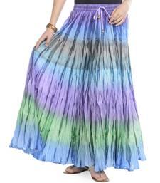 Multicolor Cotton Long Skirt