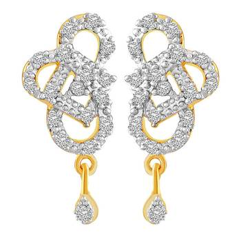 Gold diamond danglers-drops