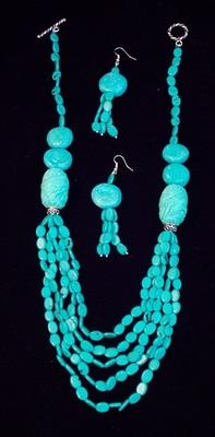 Feroza Beads Necklace Set