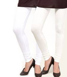 Buy Pack of Two White and Off White Readymade Legging legging online