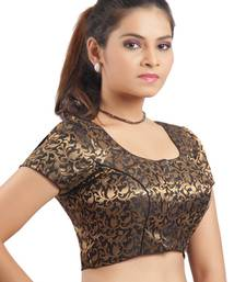 Black Ready Made Stitched padded printed Blouse